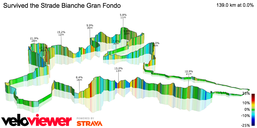 Veloviewer's 3D version of the route